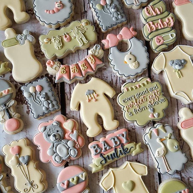 Gender Neutral Baby Shower Cookies I Give Props To Moms Out There