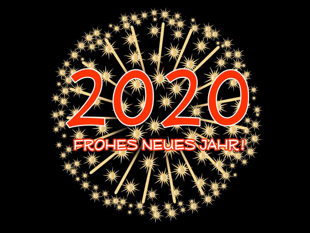 Frohes Neues Jahr 2020! Hintergrundbilder kostenlos