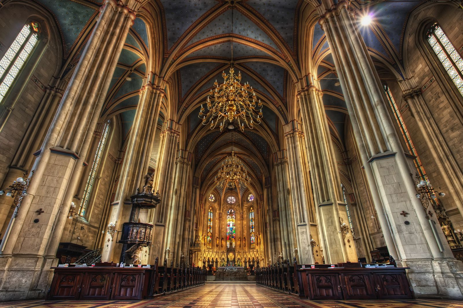 Neo Gothic Architecture Zagreb Cathedral Croatia