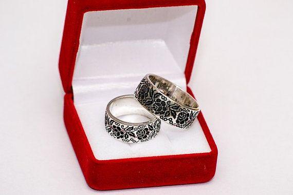 His And Hers Ukrainian Ethnic Wedding Ring By Ukrainianartteam