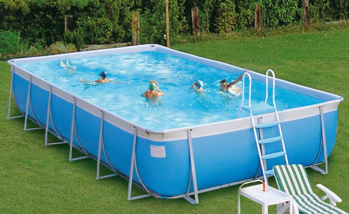 Rectangular Above Ground Pools amazing portable swimming pools for holiday: simple rectangular