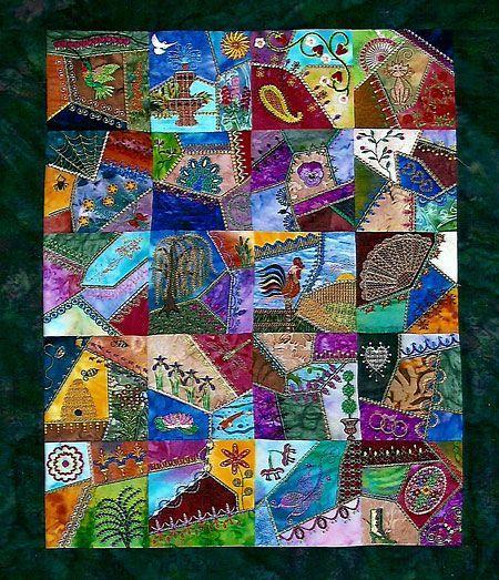 acolchados --- soy un artista y me encanta esta colcha ... usted ... : crazy quilt projects - Adamdwight.com