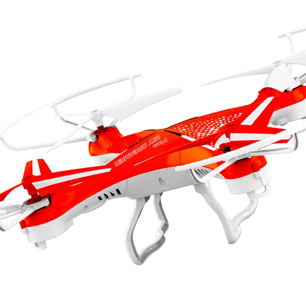 Attop YD-829C New Version 2.4GHz 4CH 6 Axis Gyro 360 Degree Eversion RC Quadcopter Helicopter Aircraft with 2.0 HD Camera - Red