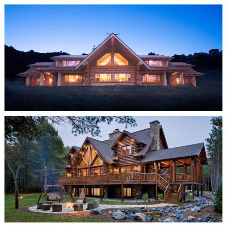 Dream Home Log Cabin Homes Beautiful Cabins Large Log Cabins