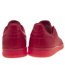 men's adidas red adicolor stan smith so icy trainers