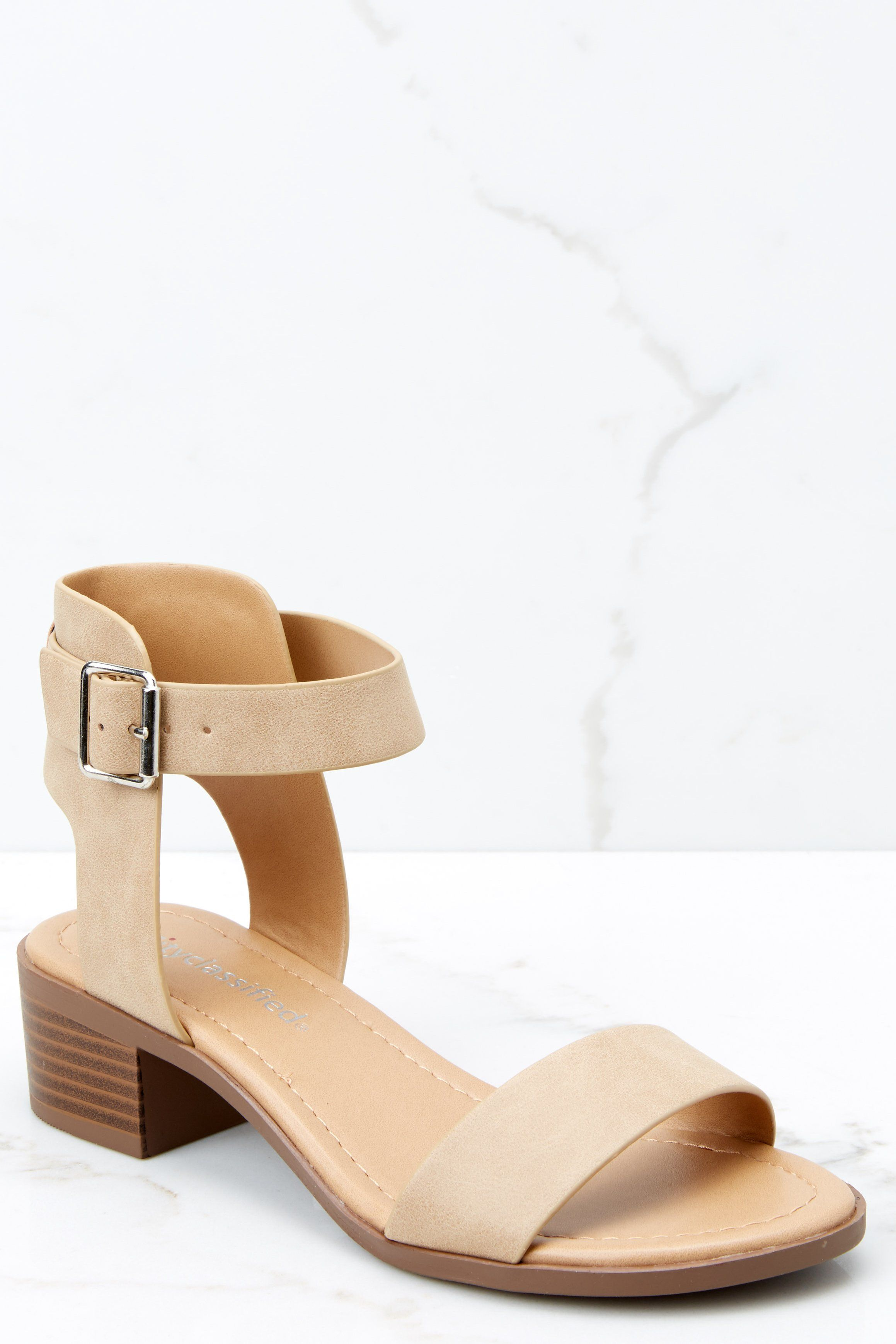 7290d523c29127 Chic Taupe Ankle Strap Heels - Cute Heels - Heels -  28.00 – Red Dress  Boutique