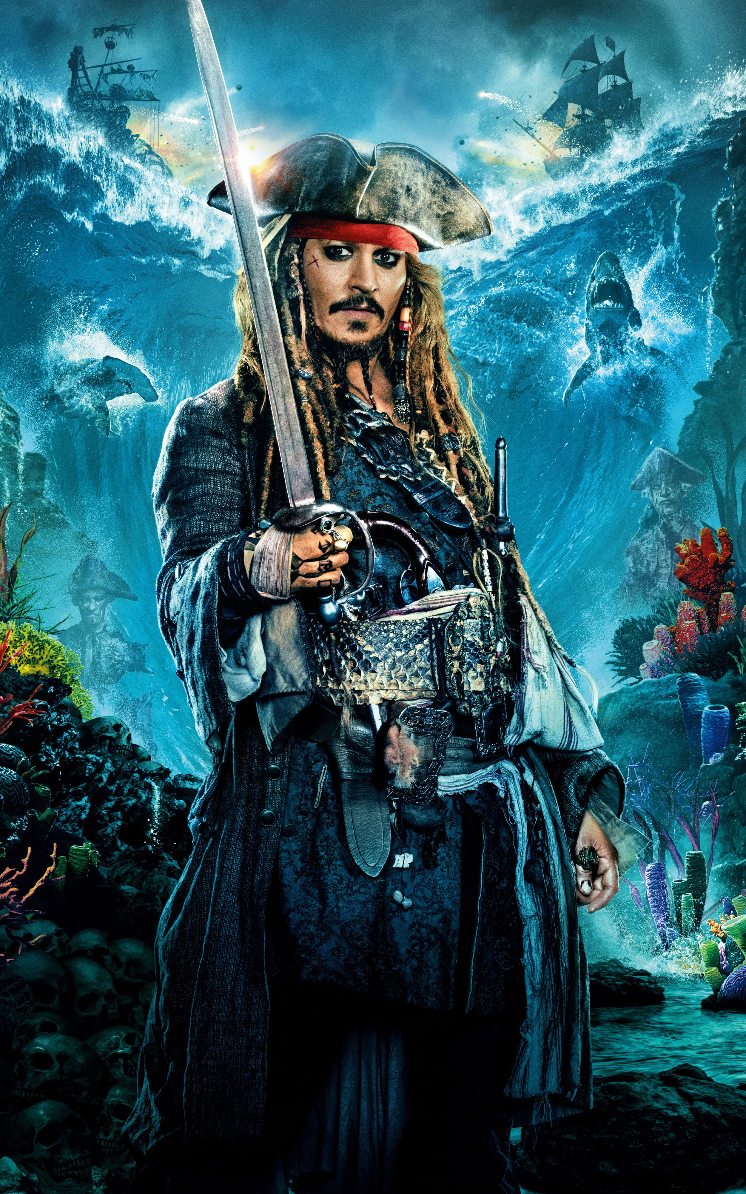 Movie Of The Week Pirates Of The Caribbean Dead Men Tell No Tales Mobile Wallpapers 150 1080p To 4k Wallpaper Post In 2020 Jack Sparrow Wallpaper Pirates Of The Caribbean Johnny Depp Wallpaper