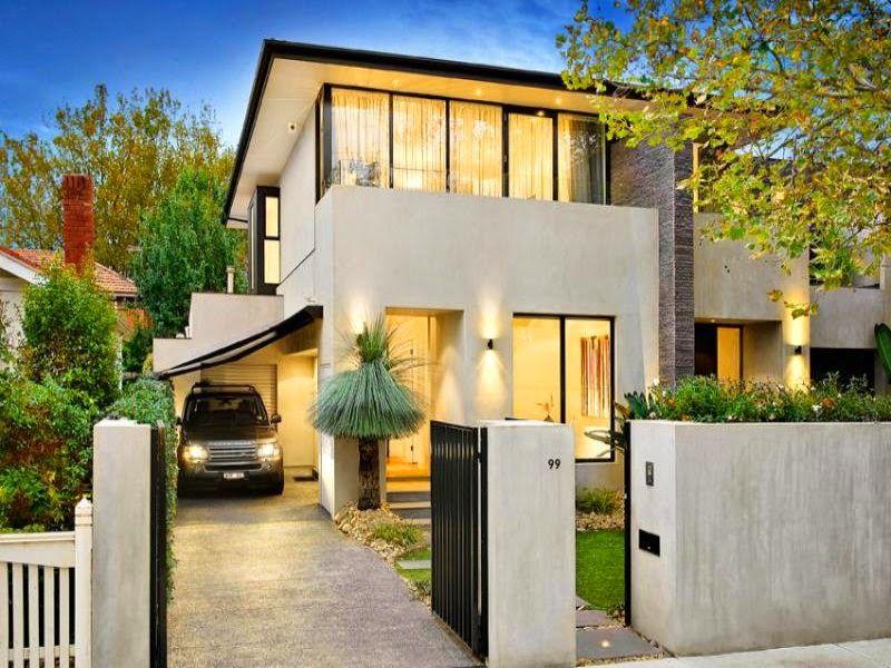 Fachadas de casas bonitas de dos pisos dos plantas for Planos de chalets modernos