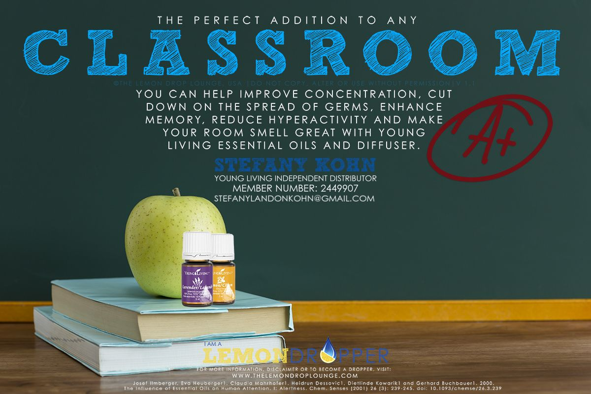 young living essential oils for teachers!!! great for busy kids!