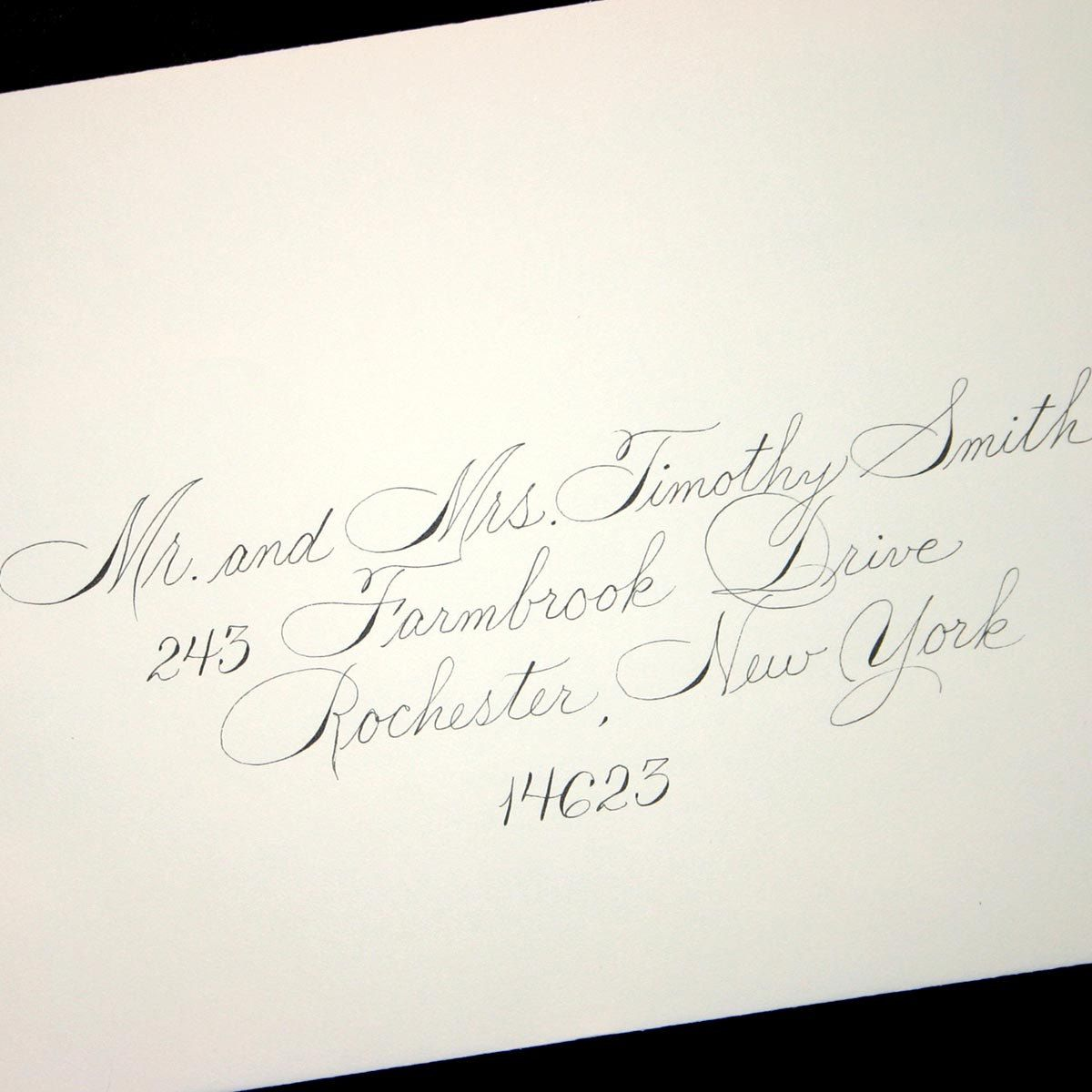 Wedding Calligraphy Envelope Addressing Spencerian Style