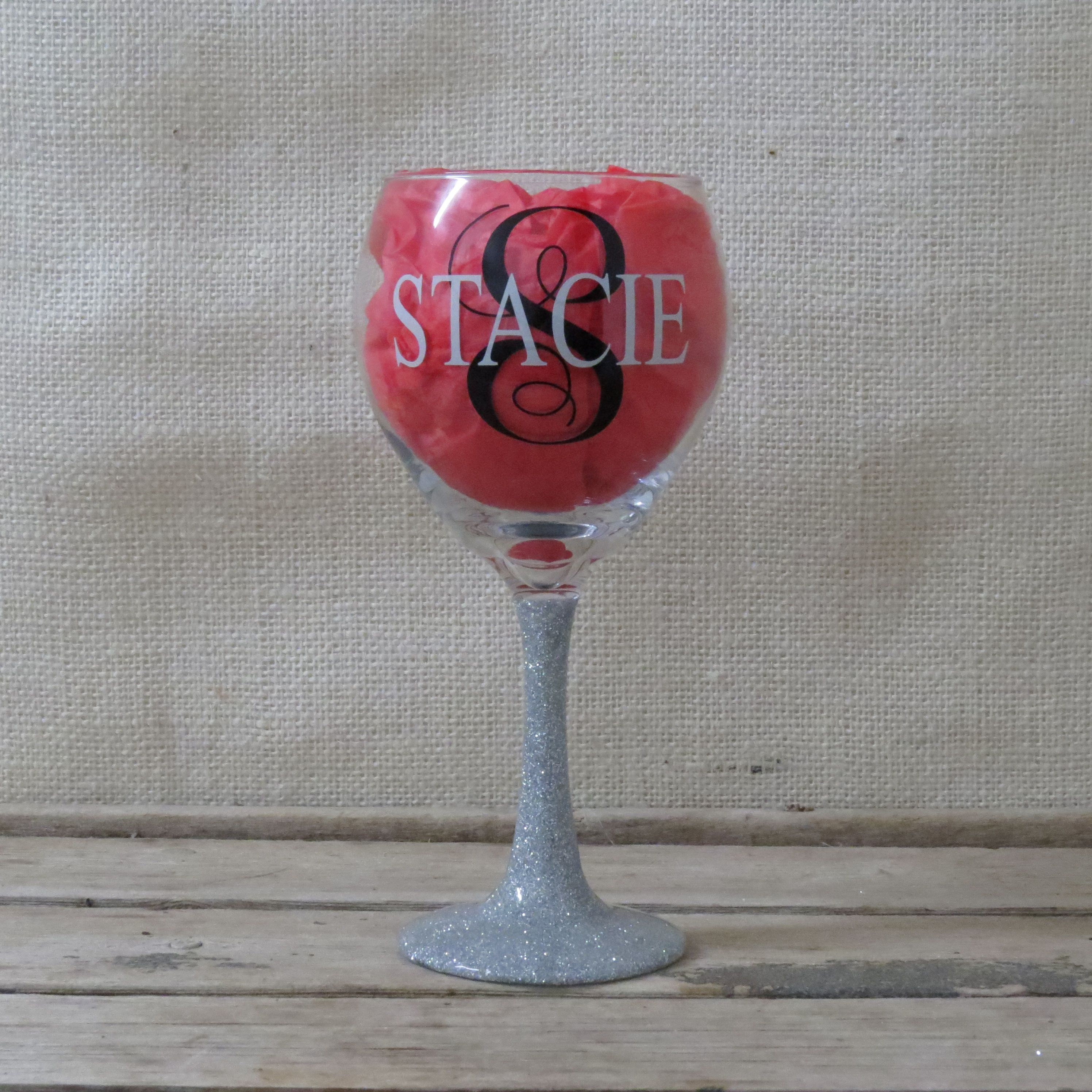 Glitter Stem Wineglass Great Gifts for Birthday Christmas