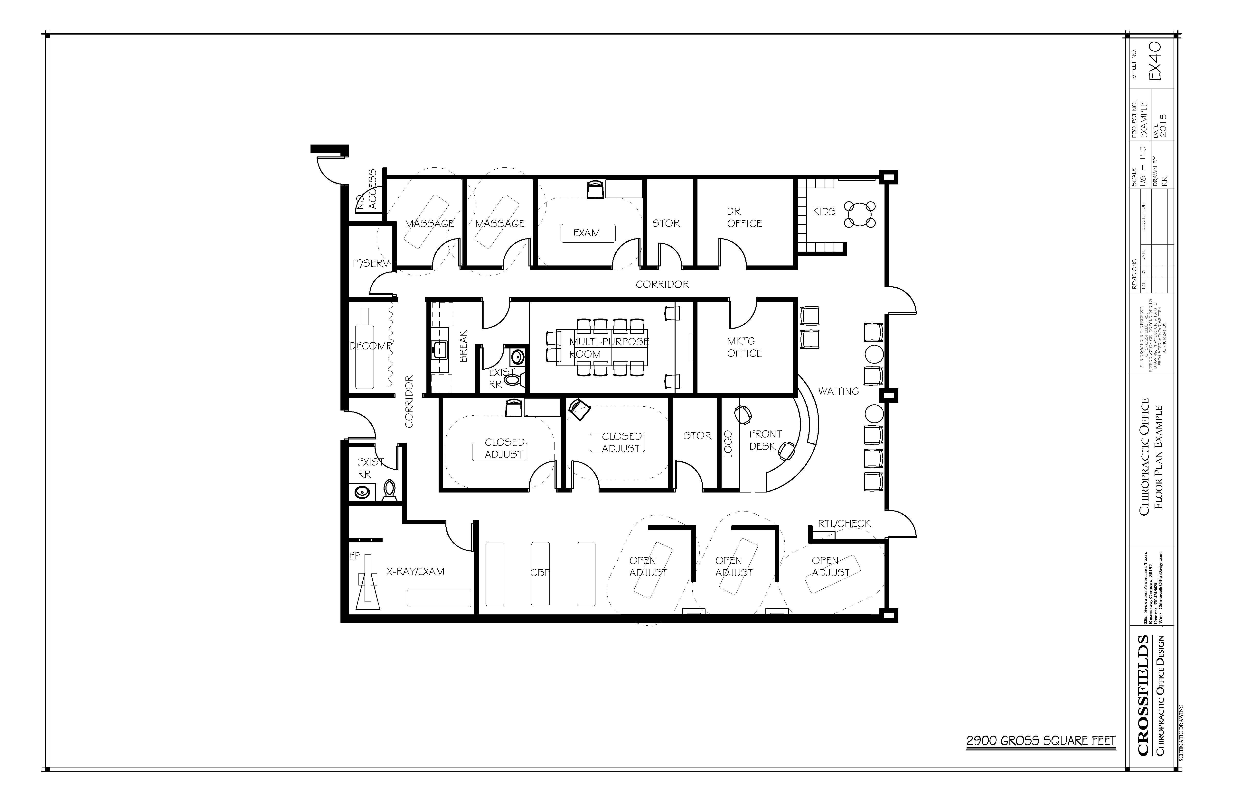 Chiropractic floorplan with semi open adjusting and - Semi open floor plan ...