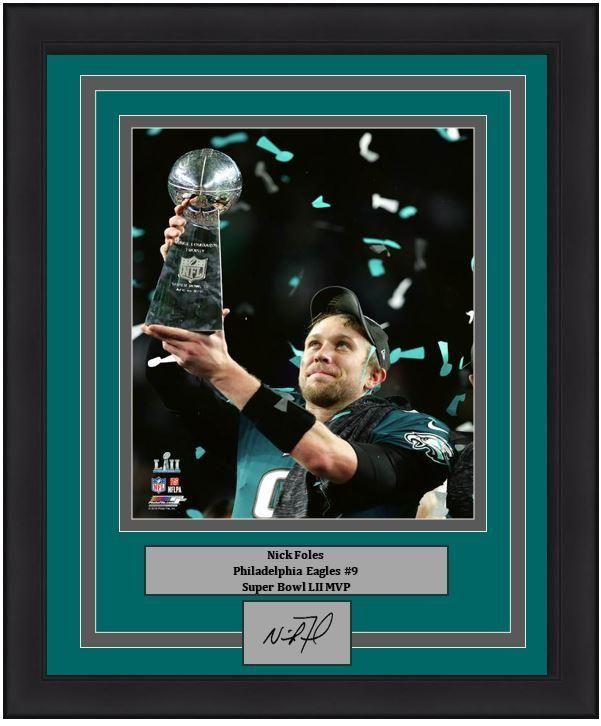 f6883984 Philadelphia Eagles Super Bowl LII Champions Nick Foles Lombardi Trophy  Engraved Autograph NFL Football 8