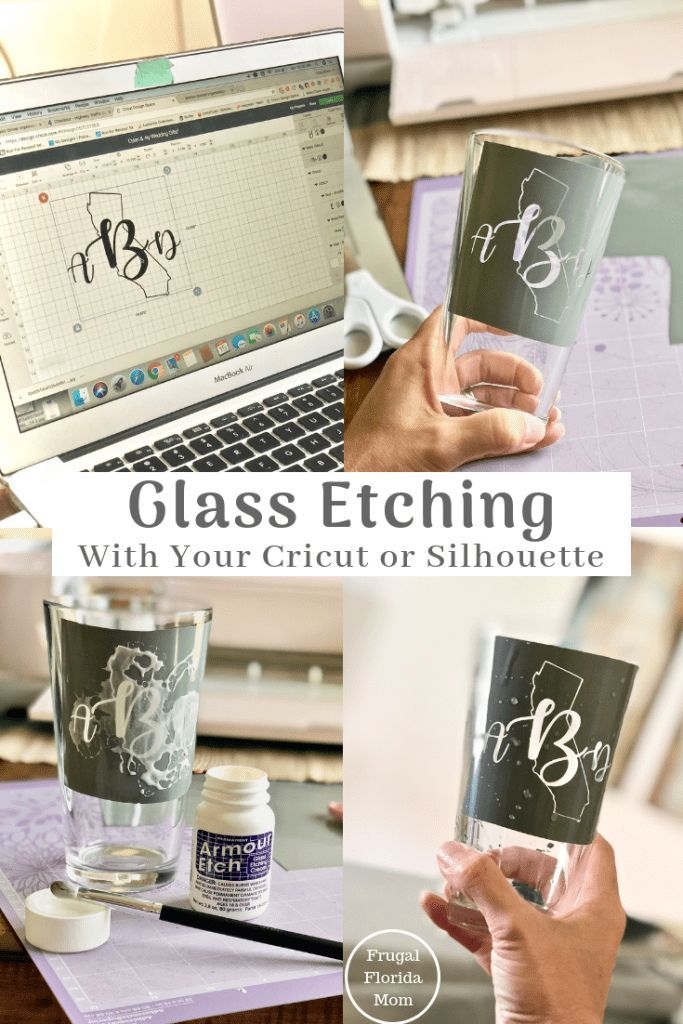 Glass Etching With Your Cricut Or Silhouette - An Easy DIY Guide