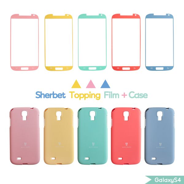 Color Case   Screen Film Set (Galaxy S4)HappyMori specializes in quality cell phone cases designed at the design studio in South Korea. You