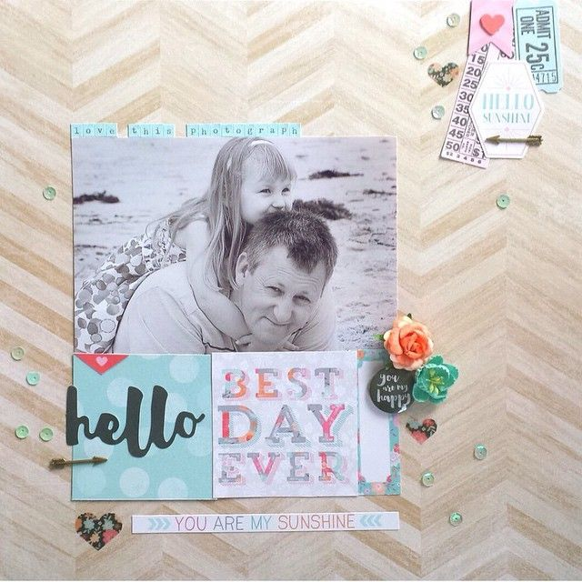 I just love this stunning layout from Amanda using our Hello Lovely collection... Such a pretty page! <3 @happy_arty_days #cocoa_vanilla #cocoavanillastudio #HelloLovely #scrapbook #layout