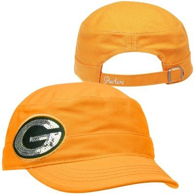 47 Brand Green Bay Packers Ladies Sparkle Military Adjustable Hat - Gold.   f6573676e