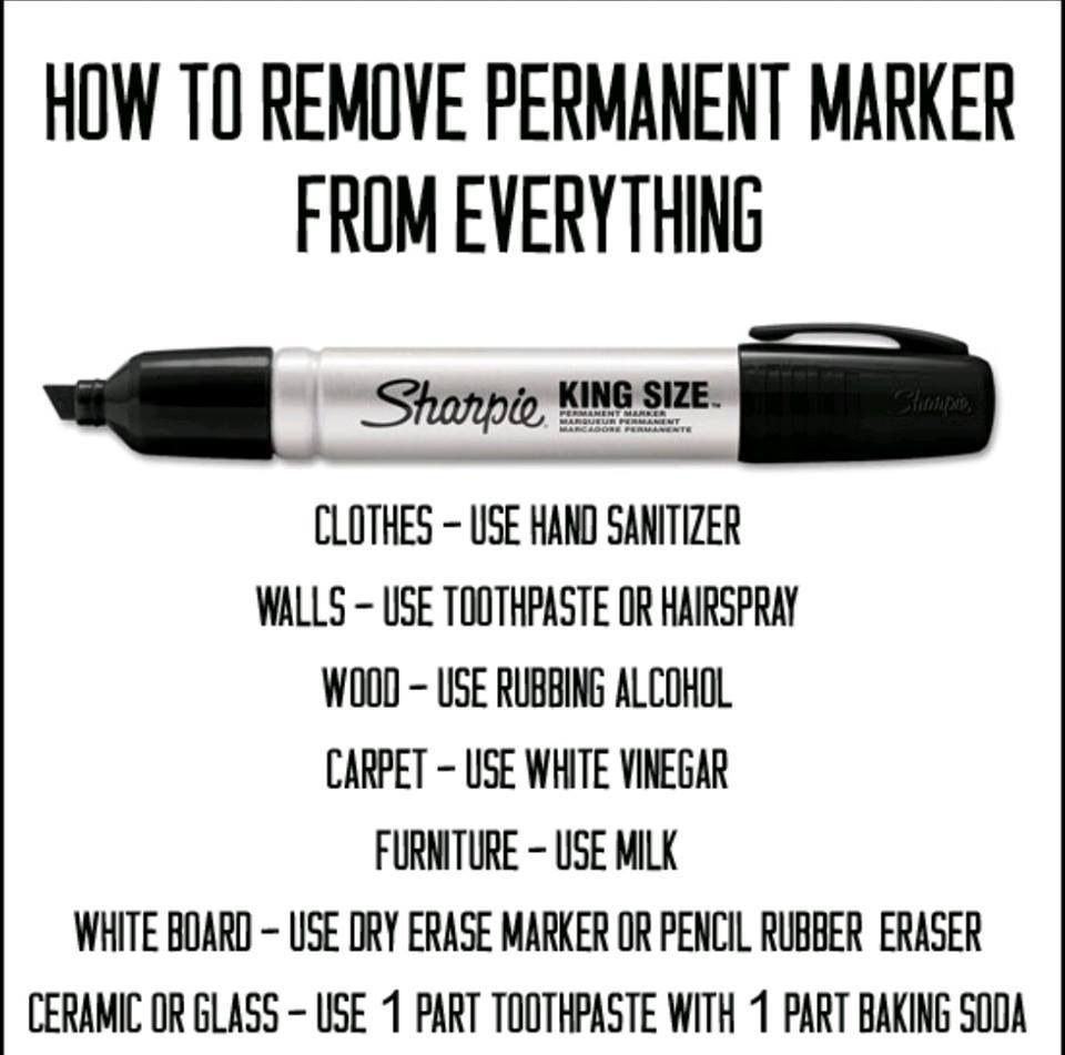 How To Remove Permanent Marker From Everything...important Tips Eventually!