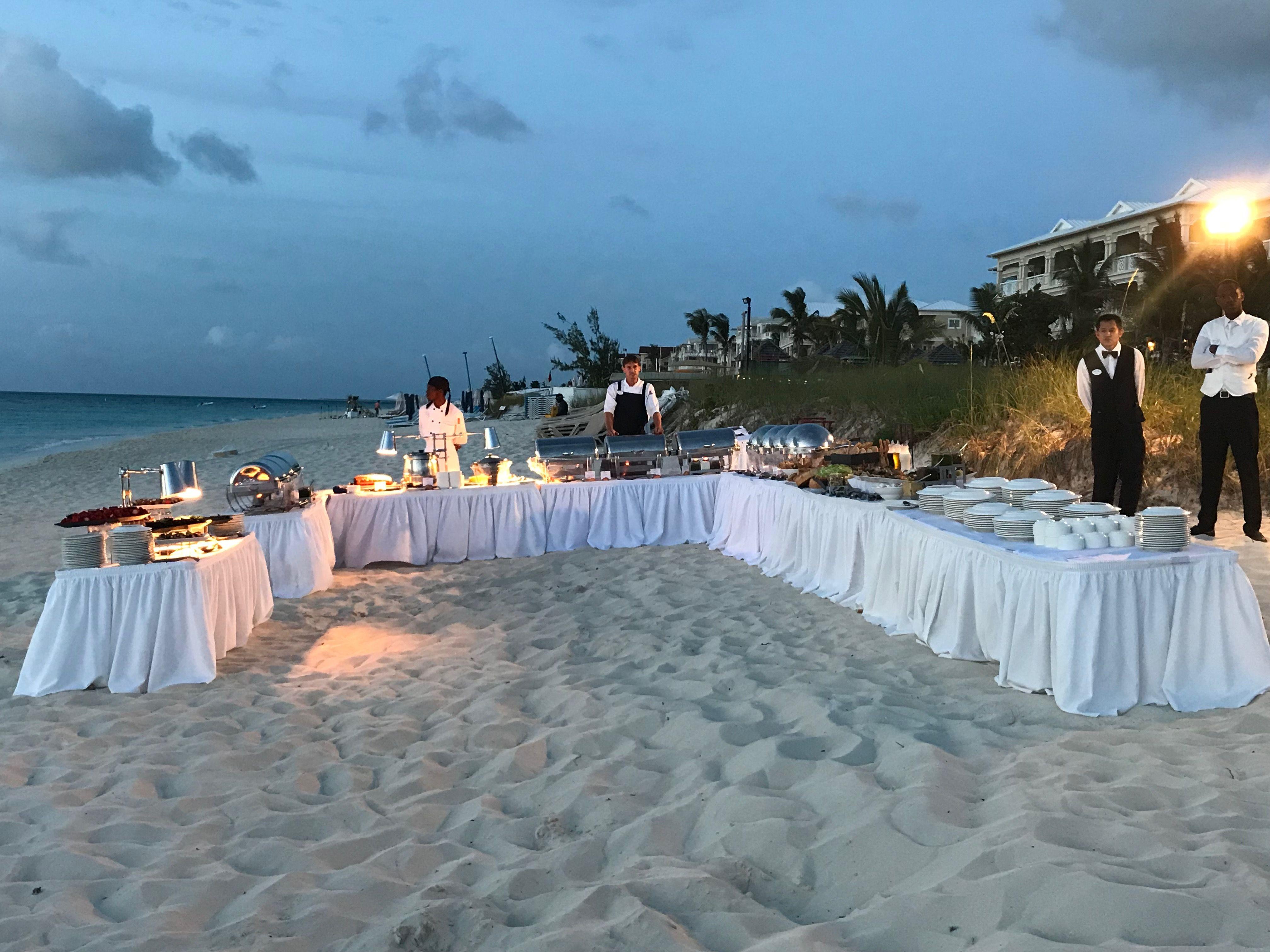 Wedding Reception Buffet On The Beach Beaches Turks Caicos Love Aisletoisle Wedding Sanda Beaches Turks And Caicos Buffet Wedding Reception Wedding Buffet