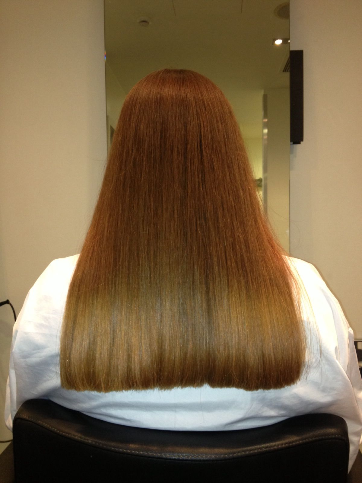 Square Perimeter On A One Length Hair Cut One Length Square In