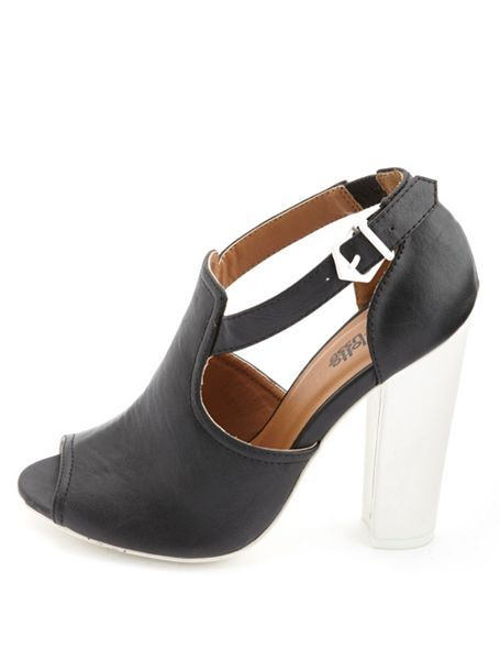 Two-Tone Cut-Out Peep Toe Heels: Charlotte Russe