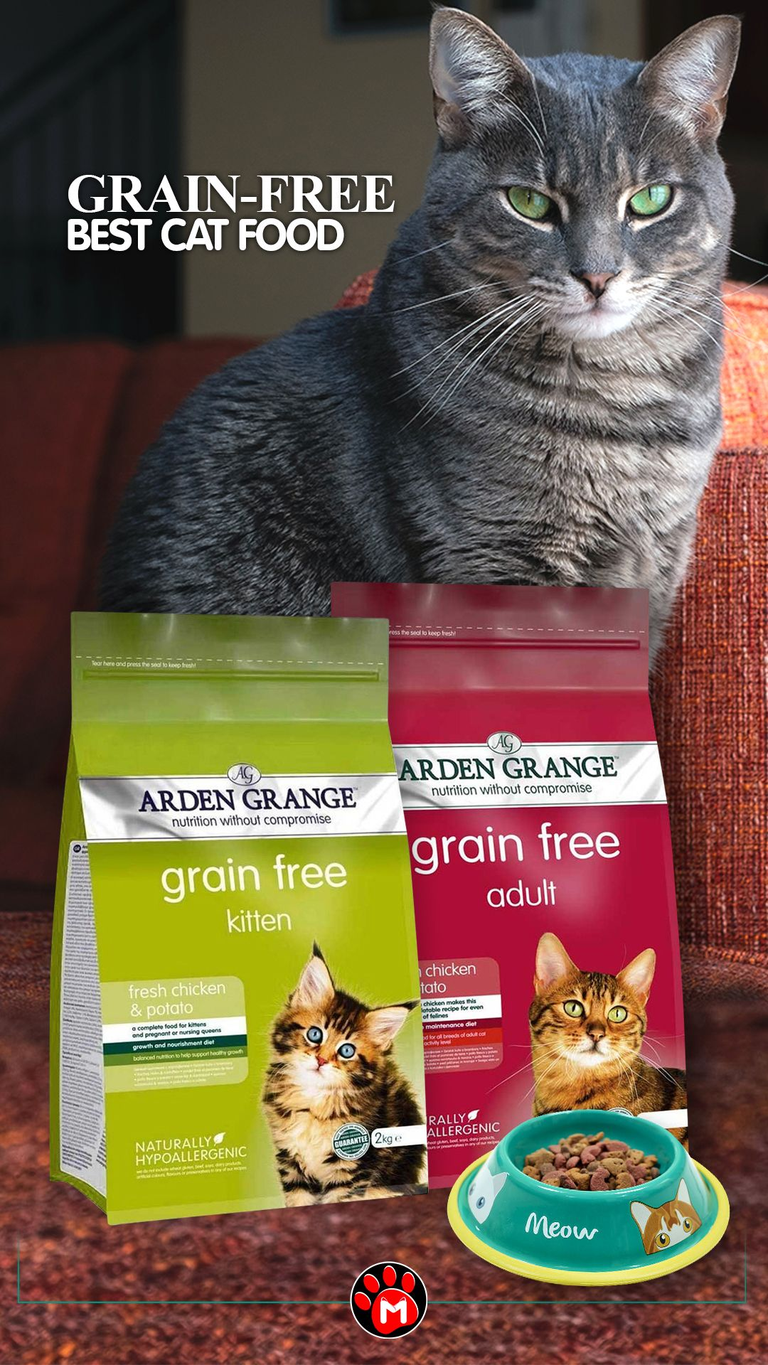 Grain Free Best Cat Food Arden Grange In 2020 Best Cat Food Cat Food Cats