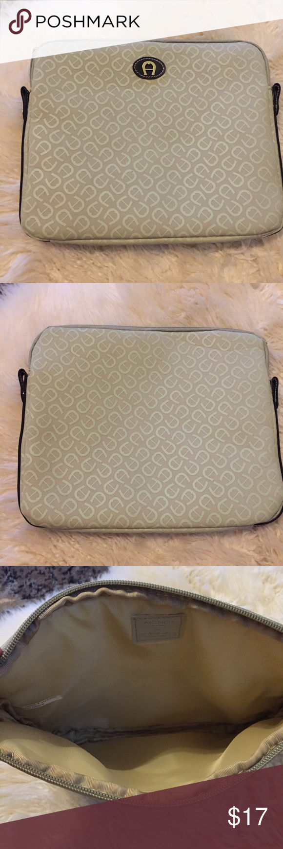 "AIGNER I PAD COVER AIGNER I PAD COVER/PROTECTOR.  Size 11"" by 9"".  Good condition, pet/smoke free home Etienne Aigner Accessories Laptop Cases"