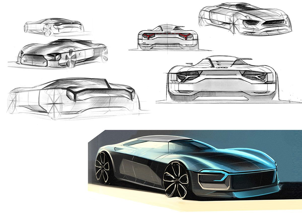 Sketches_Bachelor Thesis @ Audi on Behance