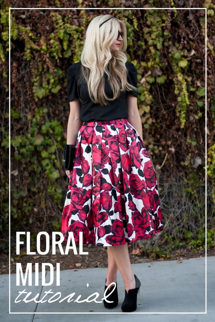 Free Skirt Sewing Pattern | You can DIY this cute skirt! For more fashion sewing tutorials and free patterns, check out http://www.sewinlove.com.au/free-sewing-patterns/