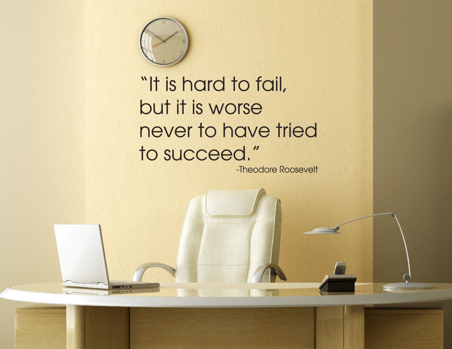 Theodore Roosevelt Quote Wall Decal - Office Decals - Vinyl Wall ...