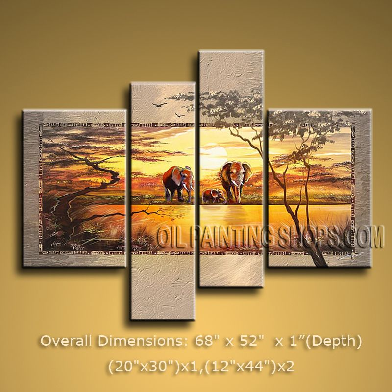 Handmade Large Contemporary Wall Art Landscape Painting Decoration ...