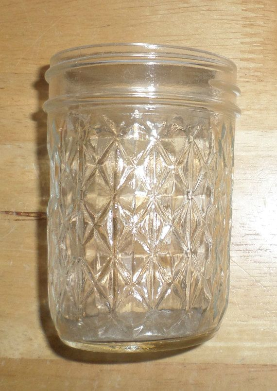 Vintage Ball Jelly Jar Quilted Crystal Jelly Jar By Carriesattic