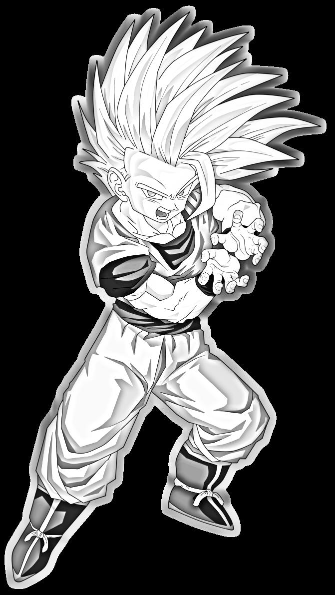 Teen Gohan Super Saiyan 2 Drawing | Dragon Ball | Pinterest