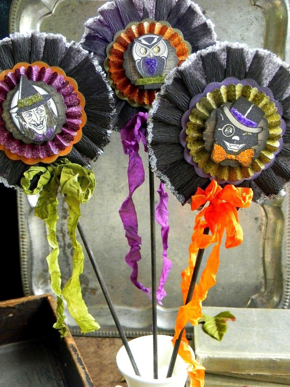 Vintage Halloween Wands Halloween Paper Crafts Vintage Halloween Halloween Ribbon