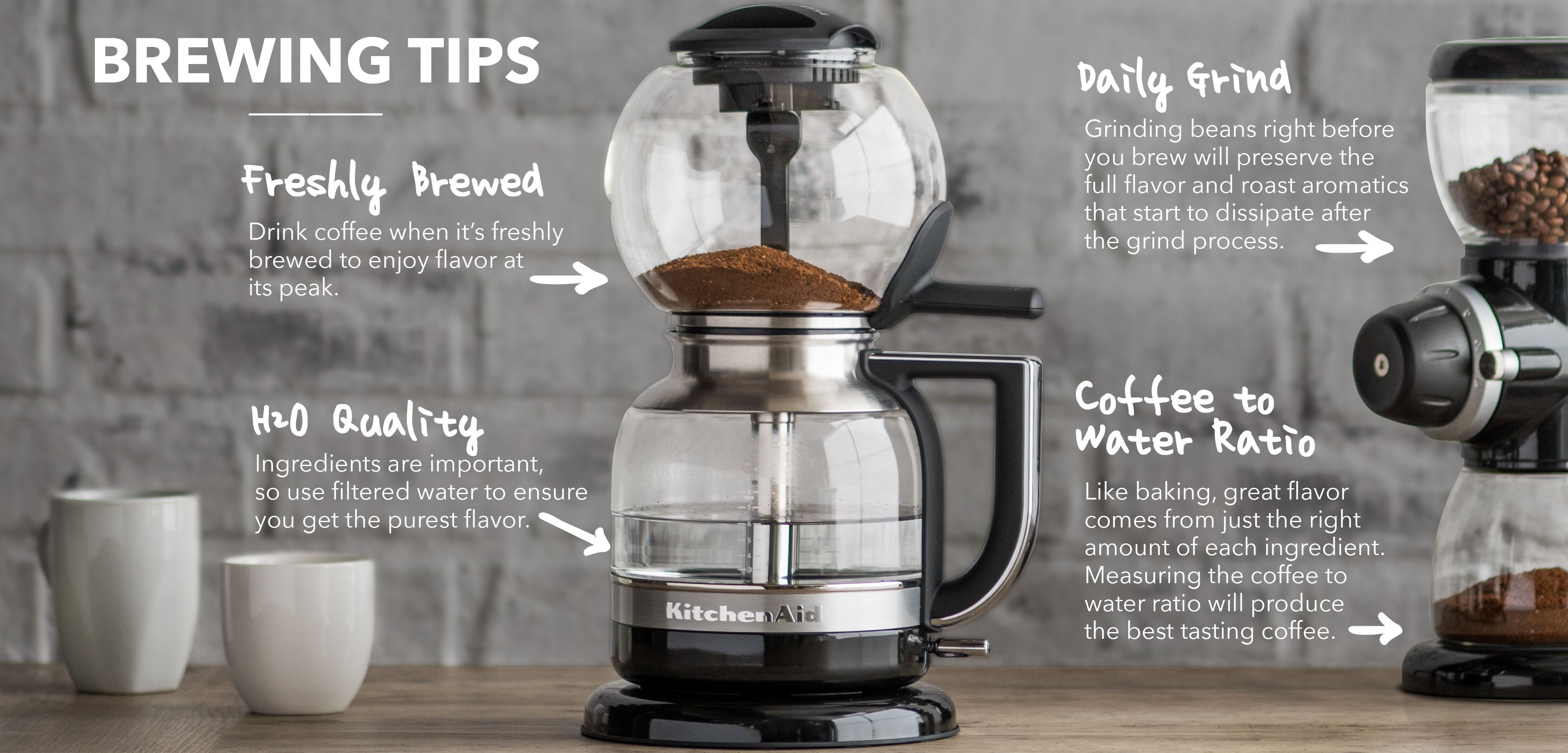 Brewing tips for the new kitchenaid siphon coffee brewer