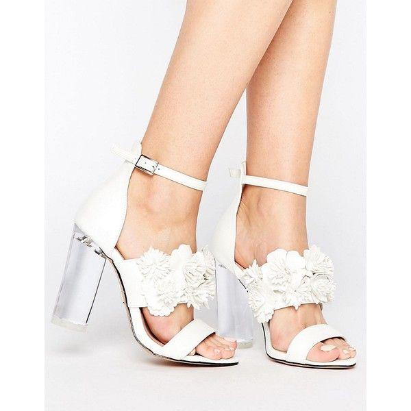 Shop Lost Ink Monika Floral Heeled Sandals at ASOS.