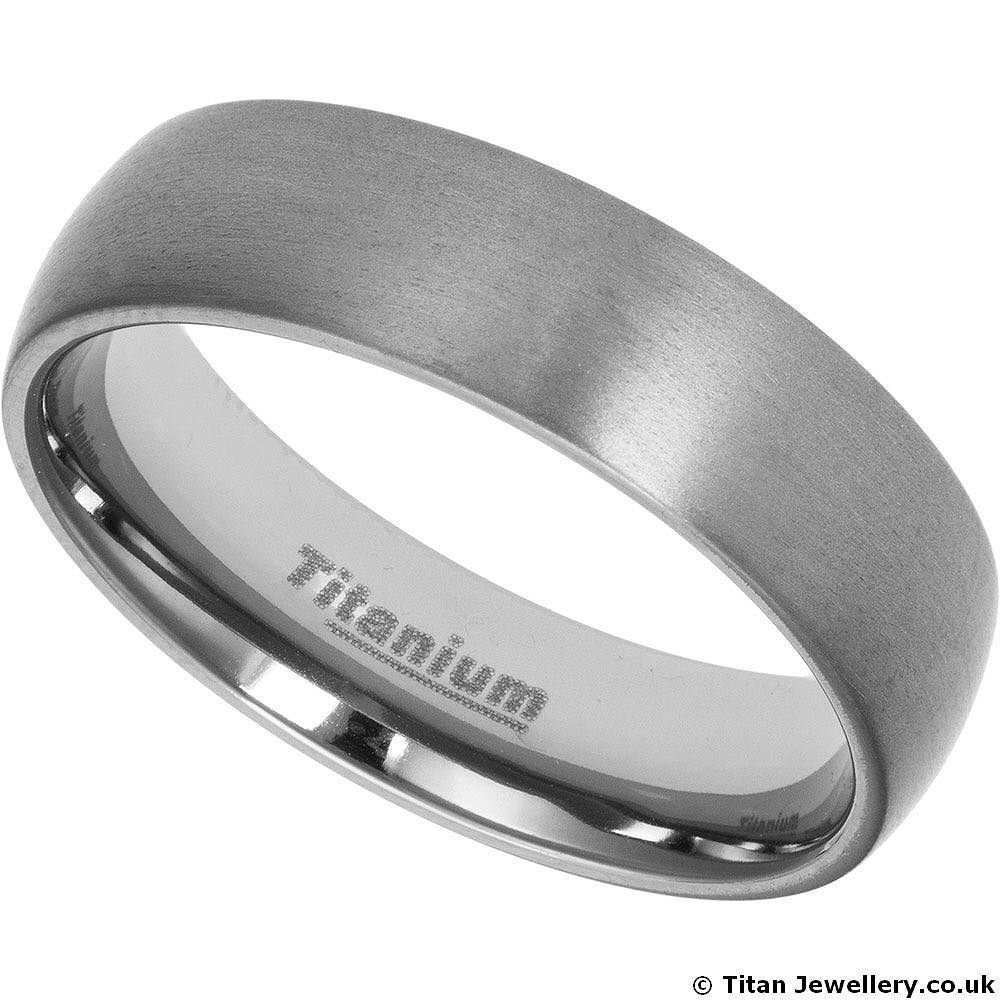 We can finish most of our titanium rings with a satin