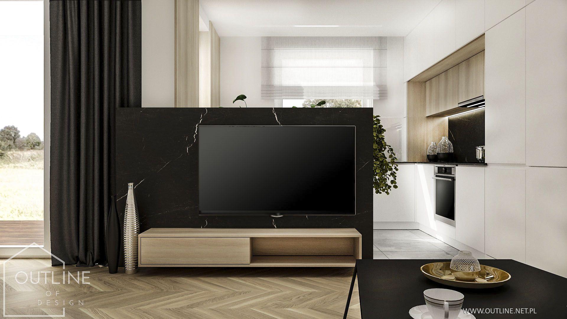 Kuchnia W Otwartym Salonie Flat Screen Flatscreen Tv Electronic Products