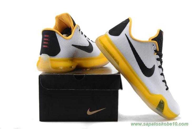 White/Yellow Nike Kobe X Kobe Bryant Mens Sale Online