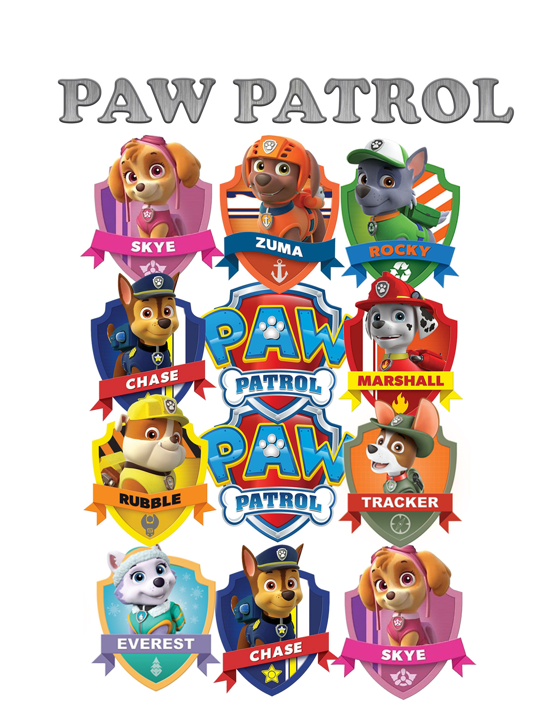 paw patrol birthday cake toppers