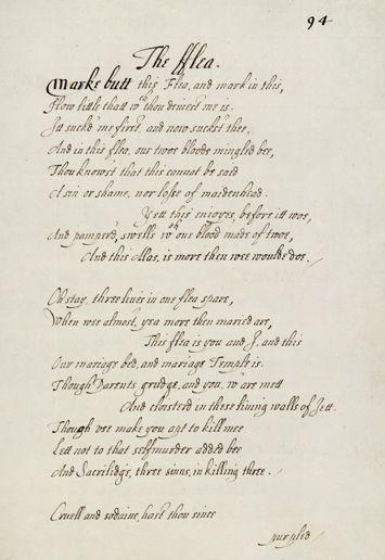 John Donne The Flea C 1620 1632 Ms Add 8467 F 94r