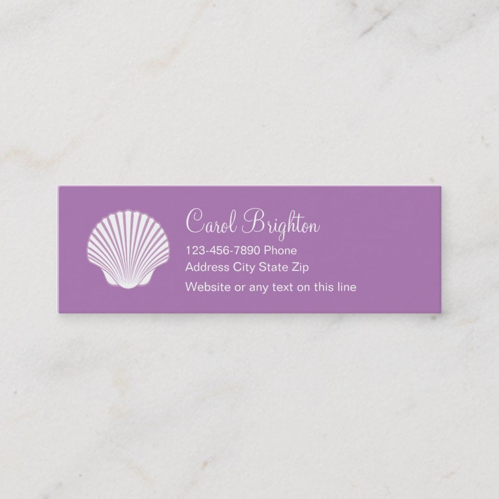 Simple Beach Business Cards Zazzle Com Business Card Template Card Template Printing Double Sided