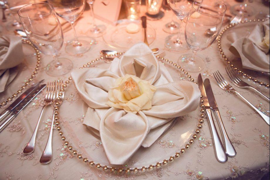Napkin Ring Flower Pearl
