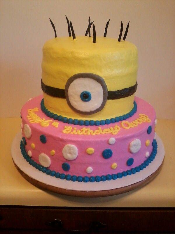 Minion Birthday Cake For A Girl Tinleys Birthday Pinterest