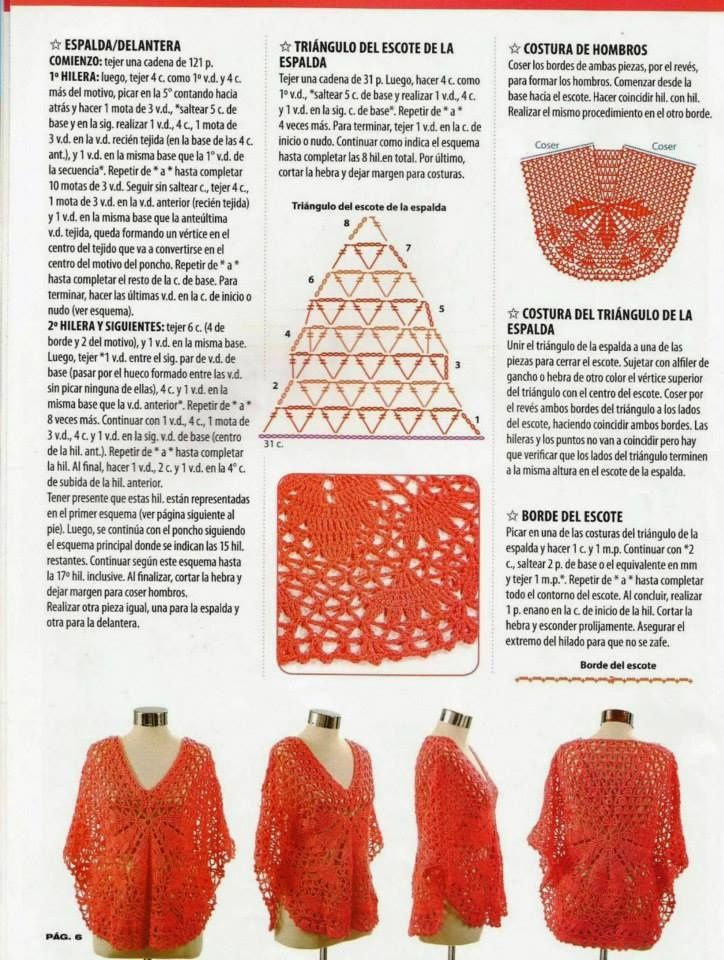 Ponchos au crochet | Poncho | Pinterest | Ponchos, Crochet and Fimo