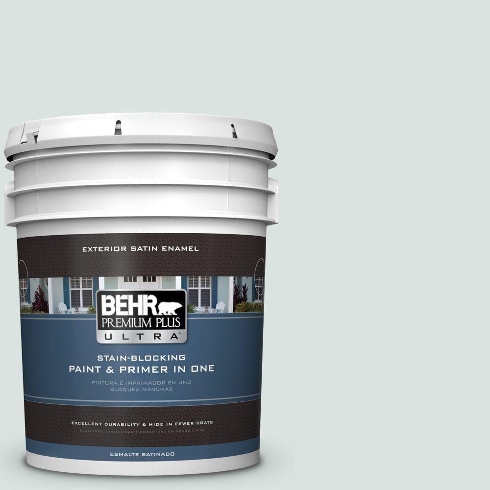 BEHR Premium Plus Ultra 5-gal. #N430-1 Mountain Peak White Satin Enamel Exterior Paint