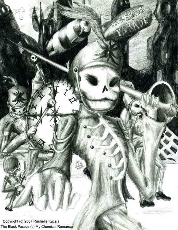 My Chemical Romance Welcome To The Black Parade Art Ocheshuennyj Risunok O My Chemical Romance Black Parade Emo Art