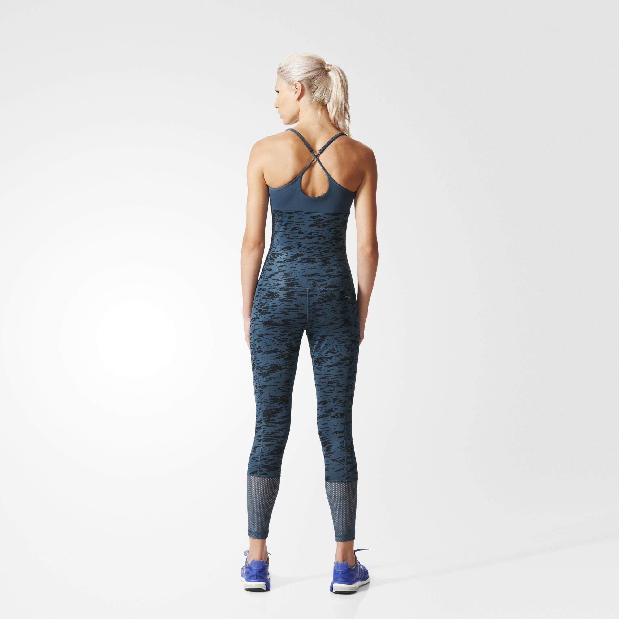 adidas Workout Catsuit - blau  7d88f9e2e
