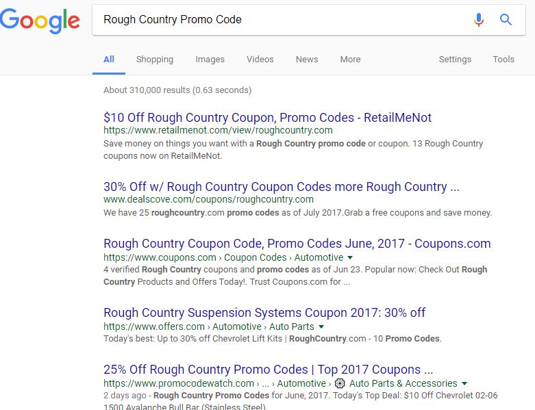 Rough Country Coupon Promo Codes Rough Coding
