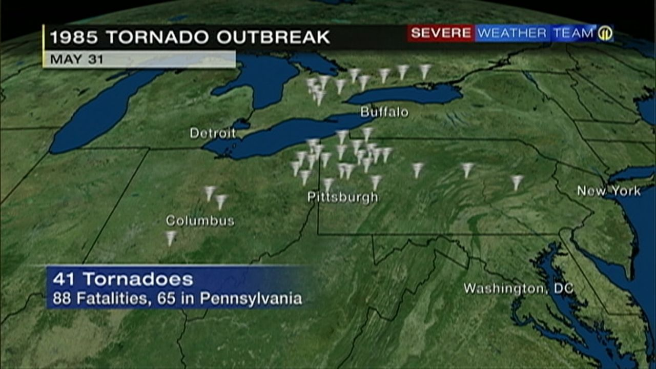 Image Result For May 31 1985 Pennsylvania Tornado Severe Weather Tornado Natural Disasters